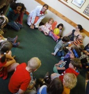 Stories Alive at Childrens' party